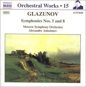 Glazunov: Symphonies Nos. 5 & 8 album cover