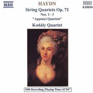 Haydn: String Quartets Op. 71, Nos. 1-3 album cover