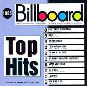 Billboard Top Hits: 1985 album cover