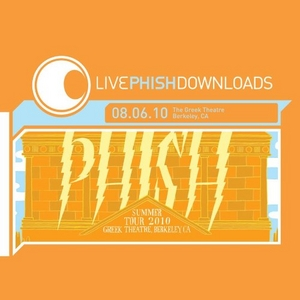 Live Phish: 8-6-10 Greek Theatre Berkeley, CA album cover