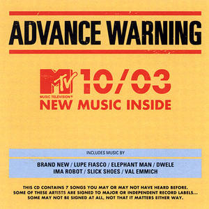 MTV Presents: Advance Warning 10-03 album cover