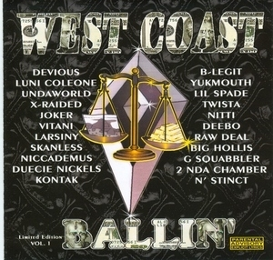 West Coast Ballin' Vol.1 album cover