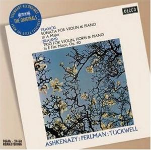 Franck: Sonata For Violin & Piano, Brahms: Trio For Violin, Horn & Piano album cover