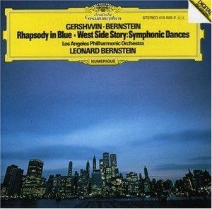 Gershwin: Rhapsody In Blue~ Bernstein: West Side Story album cover