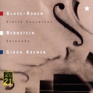 Glass-Rorem-Bernstein-Violin Concertos album cover