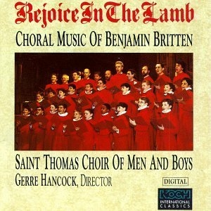 Britten: Rejoice Im The Lamb album cover