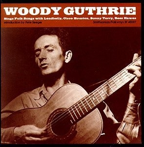 Woody Guthrie Sings Folk Songs album cover