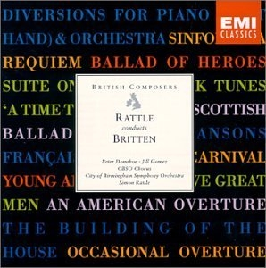 Rattle Conducts Britten album cover