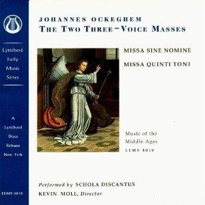 Ockeghem: The Two Three-Voice Masses album cover