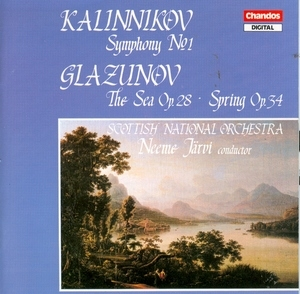Kalinnikov: Symphony No.1~ Glazunov: The Sea 0p.28, Spring Op.34 album cover