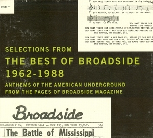 Selections From The Best Of Broadside 1962-1988 album cover