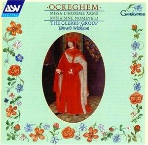 Ockeghem: Missa L'Homme Arme album cover