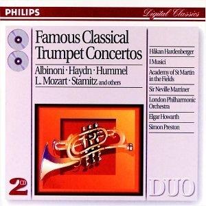 Famous Classical Trumpet Concertos album cover