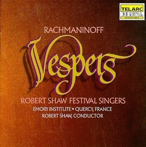 Rachmaninoff: Vespers album cover