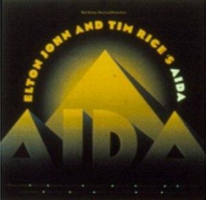 Elton John And Tim Rice's Aida album cover