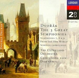 Dvorak: 3 Great Symphonies album cover