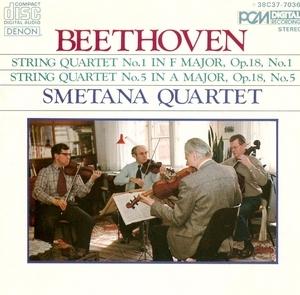 Beethoven: String Quartets Nos.1&5 album cover