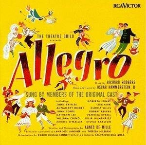 Allegro (1947 Original Broadway Cast) album cover