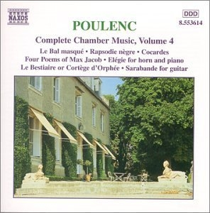 Poulenc: Complete Chamber Music Vol.4 album cover