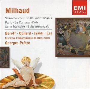 Milhaud: Scaramouche, Le Bal Martiniquais, Paris album cover