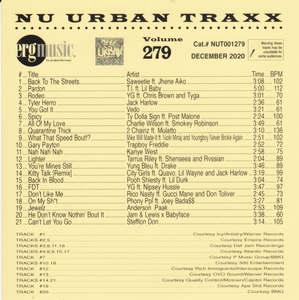 ERG Music: Nu Urban Traxx, Vol. 279 (December 2020) album cover