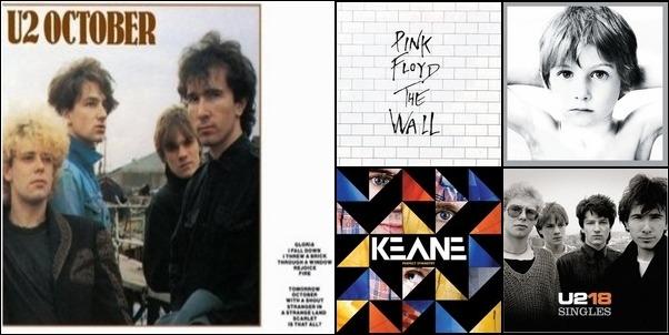 Pink Floyd, U2, Keane & Coldplay